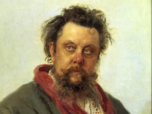 портрет зависимого от алкоголя Мусоргского